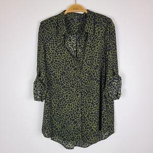Apt 9 long sleeve leopard print blouse